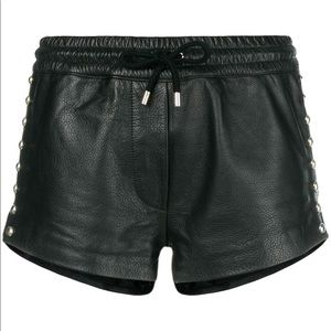Moschino leather shorts. Never been worn.